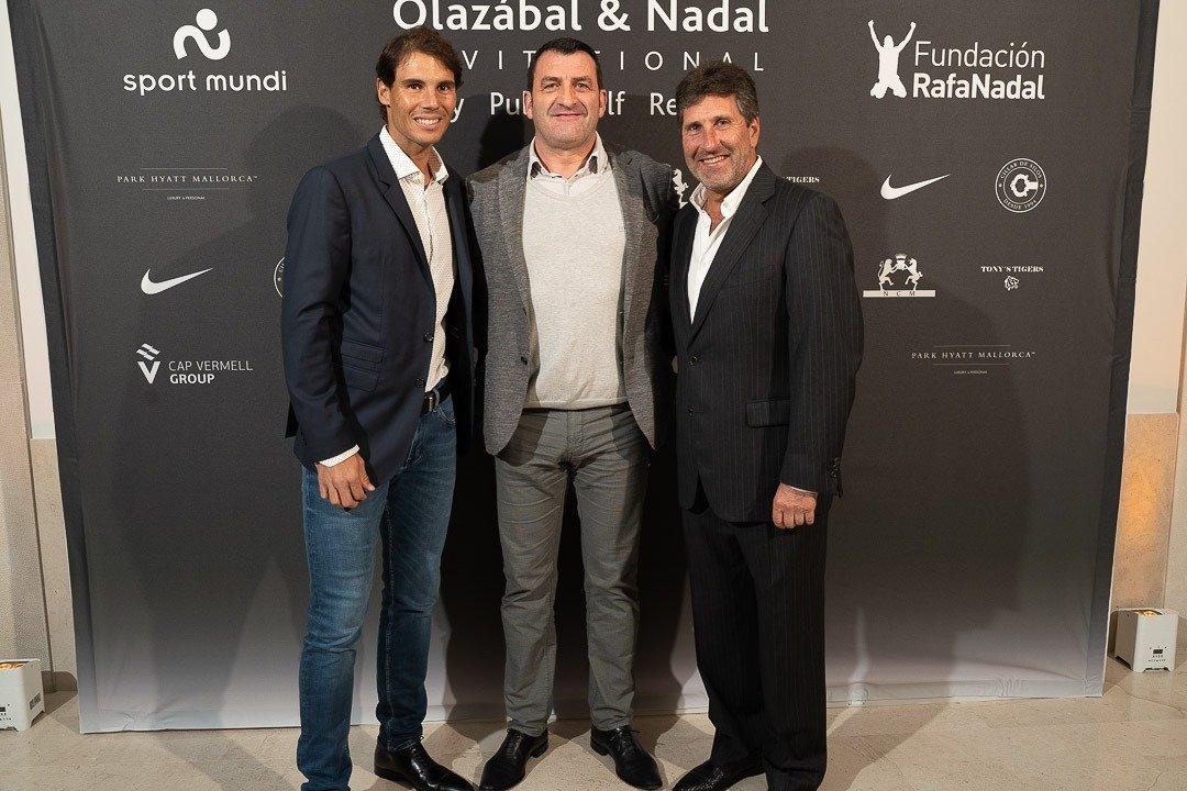Balearhouse, Charity, Charity Event, Hotel Parc Hyatt Mallorca, Jesus Calvo, Jose Maria Olazábal, Olazábal & Nadal Invitational, Photocall, Rafa Nadal, Real Estate Balearhouse